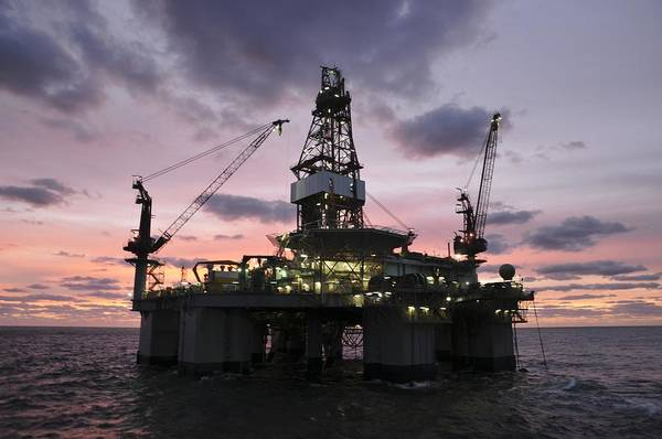Photograph - Oil Rig At Dawn by Bradford Martin
