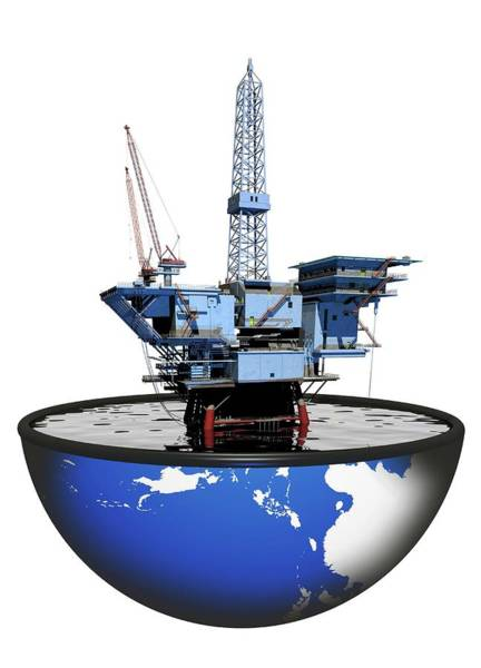 Drilling Rig Photograph - Oil Rig by Victor Habbick Visions/science Photo Library