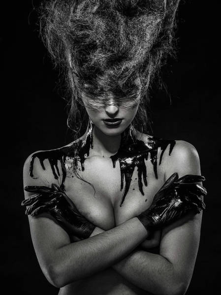 Hairstyle Photograph - Oil by Sergei Smirnov