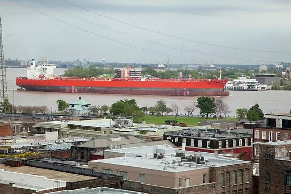 Tucson Photograph - Oil Tanker On The Mississippi River by Jim West