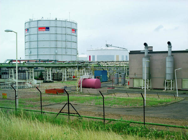 Terminal Photograph - Oil Terminal Storage Tanks by Robert Brook/science Photo Library
