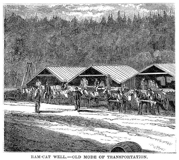 Painting - Oil Transport, 1871 by Granger