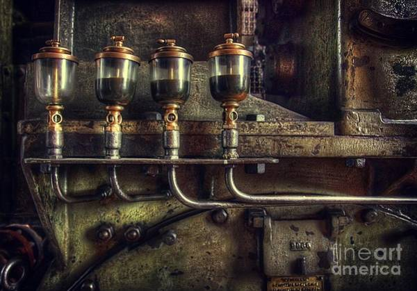 Steam Engine Photograph - Oil Valves by Carlos Caetano