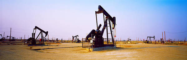 Pump Jack Wall Art - Photograph - Oil Wells In Oil Field, California by Panoramic Images
