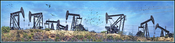 Photograph - Oil Wells On A Hill by Chuck Staley