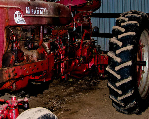 Wall Art - Photograph - Oiled Tractor by Nickaleen Neff