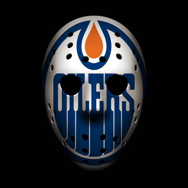 Wall Art - Photograph - Oilers Goalie Mask by Joe Hamilton