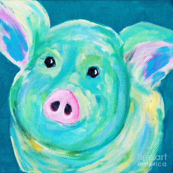 Painting - Oink by Melinda Etzold