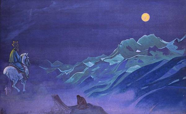Nk Roerich Painting - Oirot Messenger Of The White Burkhant by Nicholas Roerich