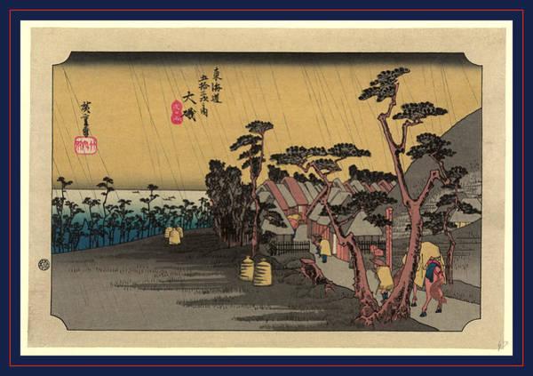 Wall Art - Drawing - Oiso, Ando Between 1833 And 1836, Printed Later by Utagawa Hiroshige Also And? Hiroshige (1797-1858), Japanese