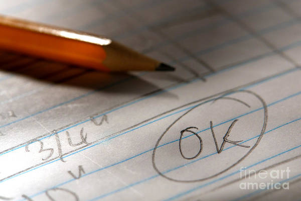 Pencil Drawing Photograph - OK  by Olivier Le Queinec