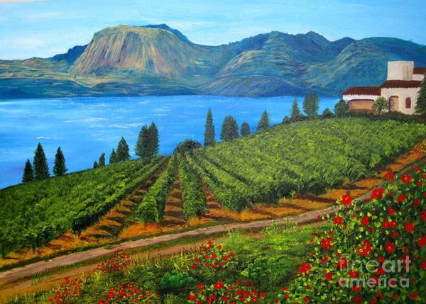 Okanagan Vineyard Art Print
