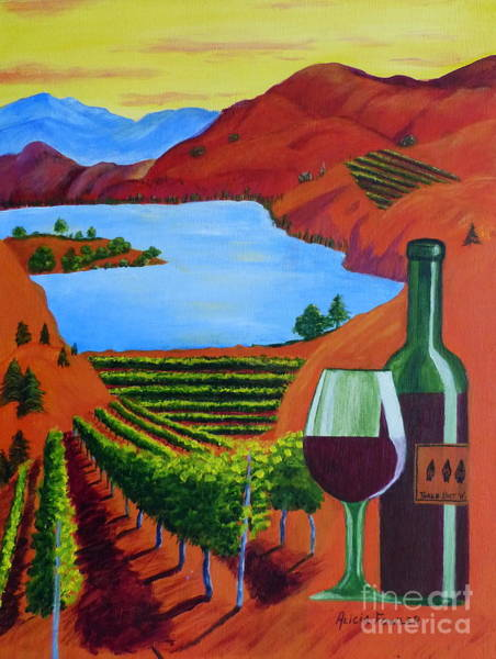 Okanagan Wine Country Art Print