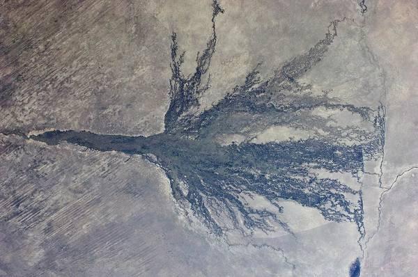 Delta Photograph - Okavango by Nasa/science Photo Library