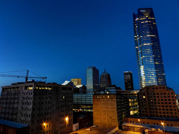 Photograph - Oklahoma City Cityscape 001 by Lance Vaughn