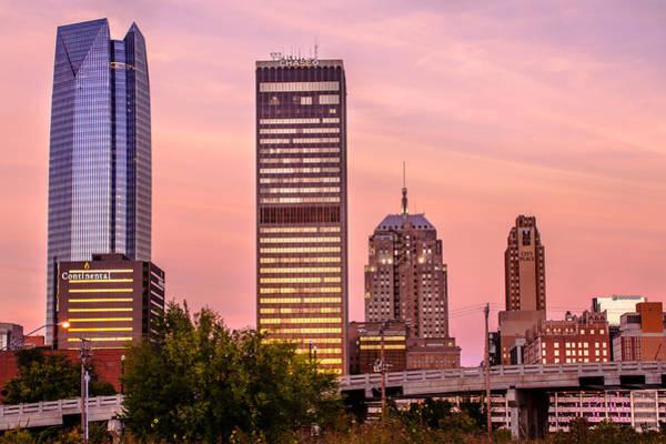 Photograph - Oklahoma City Downtown Skyline At Sunrise by Gregory Ballos
