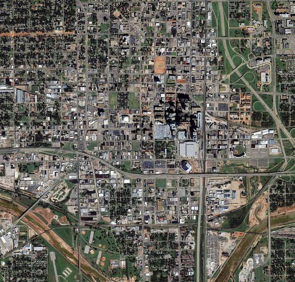 Wall Art - Photograph - Oklahoma City by Geoeye/science Photo Library