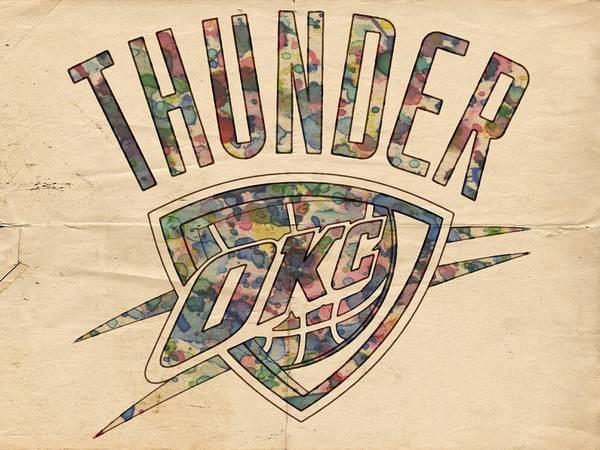Painting - Oklahoma City Thunder Poster Art by Florian Rodarte