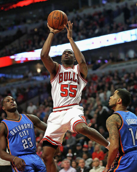 Chicago Photograph - Oklahoma City Thunder V Chicago Bulls by Jonathan Daniel