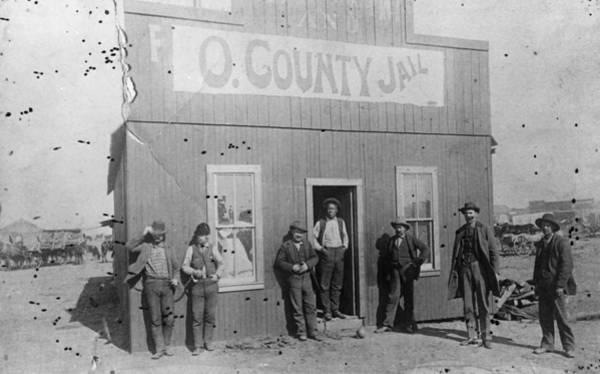 Photograph - Oklahoma Jailhouse, C1893 by Granger