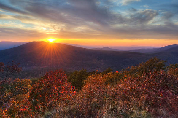 Photograph - Oklahoma Mountain Sunset - Talimena Scenic Byway by Gregory Ballos