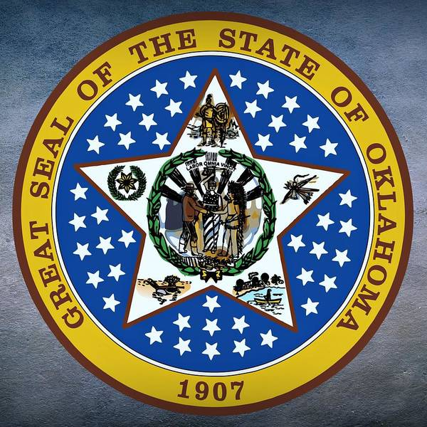 Digital Art - Oklahoma State Seal by Movie Poster Prints