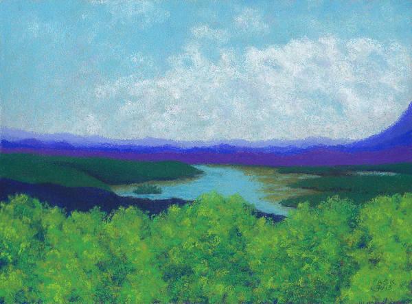 Pastel - Olana Overlook by Anne Katzeff