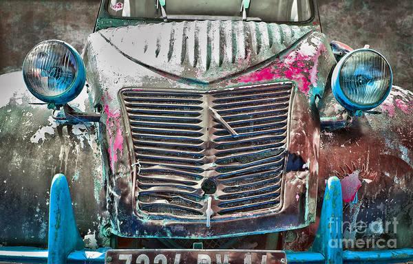 Antique Car Photograph - Old 2cv by Delphimages Photo Creations