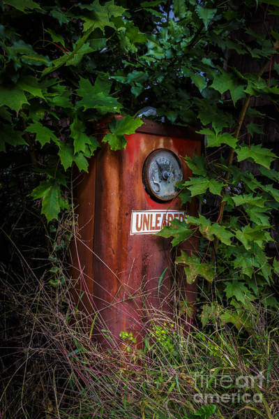 Dials Photograph - Old Abandoned Gasoline Pump by Edward Fielding