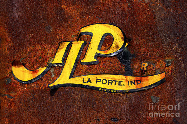 Photograph - Old And Beat - Oil Pull Sign by Paul W Faust -  Impressions of Light