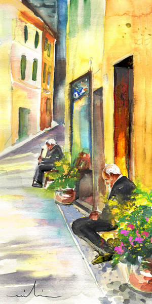 Painting - Old And Lonely In Italy 03 by Miki De Goodaboom