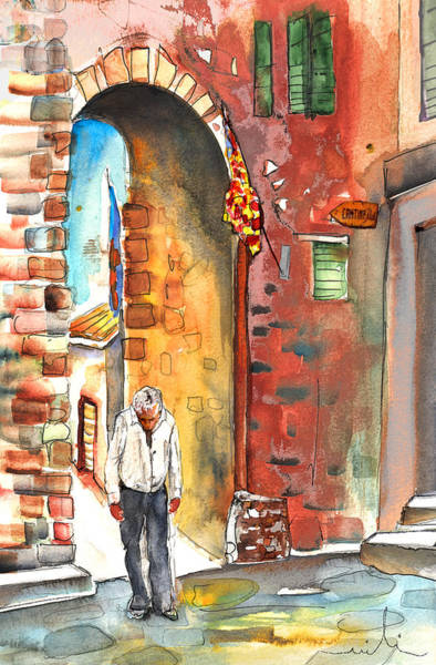 Painting - Old And Lonely In Italy 04 by Miki De Goodaboom