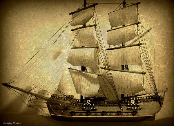 Photograph - Old Antique Ship by Sheila Kay McIntyre