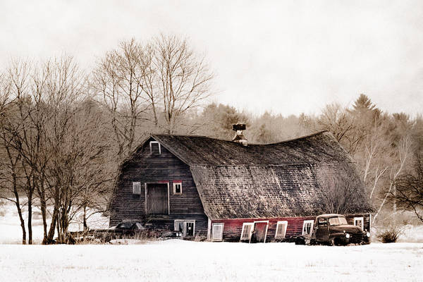Photograph - Old Barn And Truck - Americana by Gary Heller