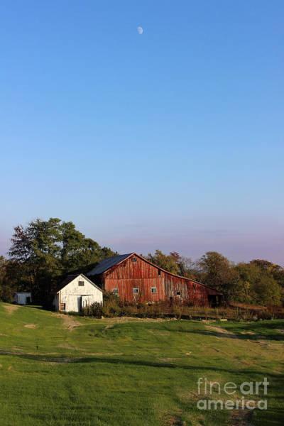 Old Barn At Sunset Art Print