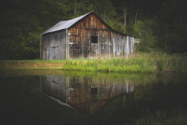 Salt Pond Photograph - Old Barn At The Farm by Shane Holsclaw