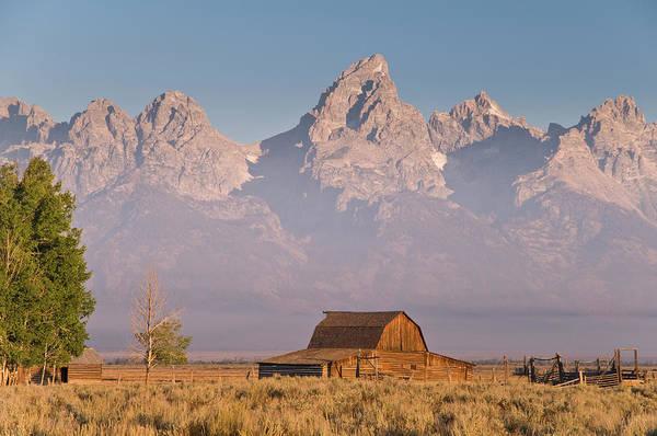 Barn Photograph - Old Barn Beside Mormon Row by Glenn Van Der Knijff