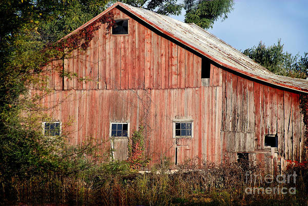 Photograph - Old Barn Faded With Years by Karen Adams