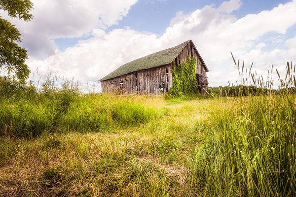 Photograph - Old Barn In Ontario County - New York State by Gary Heller