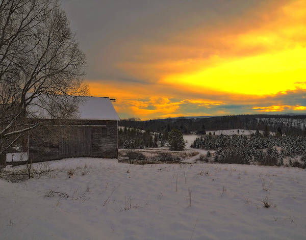 Wall Art - Photograph - Old Barn On A Winter Morning by Dave Sandt