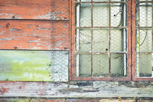 Wood Siding Wall Art - Photograph - Old Barn Window by Tom Gowanlock