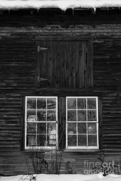 New England Barn Photograph - Old Barn Windows by Edward Fielding