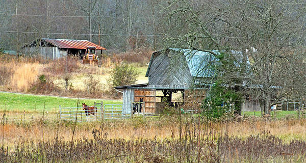 Photograph - Old Barns In Eastern Transylvania County by Duane McCullough