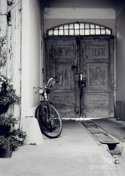 Wall Art - Pyrography - Old Bicycle by Jelena Jovanovic
