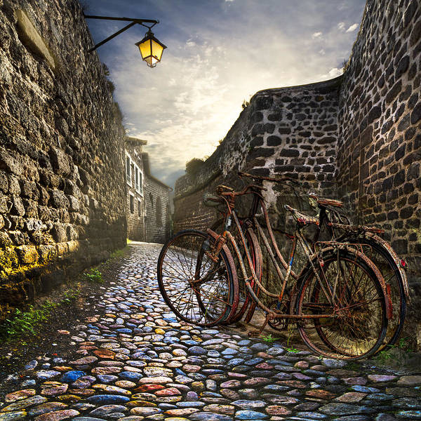 Town Square Wall Art - Photograph - Old Bicycles On A Sunday Morning by Debra and Dave Vanderlaan