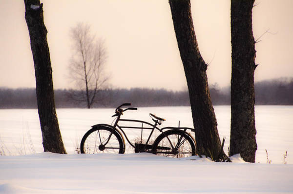 Photograph - Old Bike In The Snow by Bill Cannon