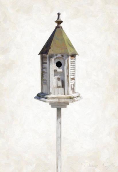 Birdhouse Painting - Old Birdhouse by Danny Smythe