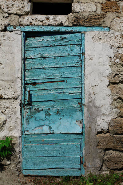 Art Object Photograph - Old Blue Door by Suchota