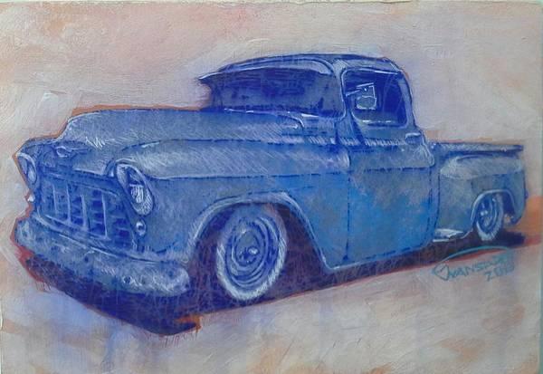Custom Truck Painting - Old Blue by Johan Van Staden