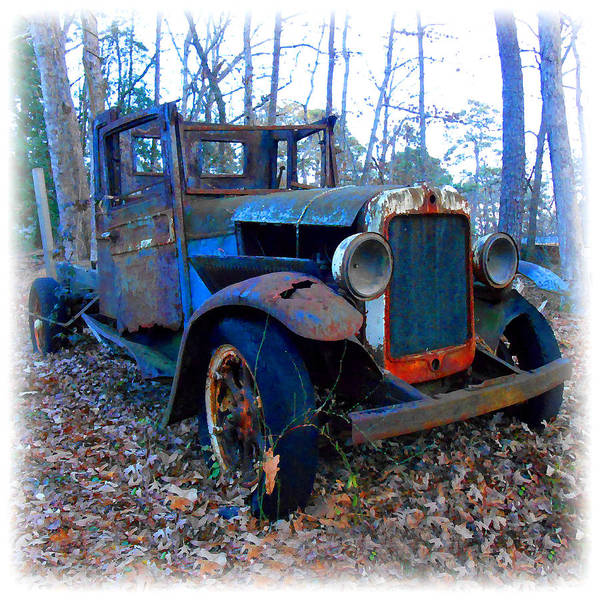 Digital Art - Old Blue Pickup Truck by K Scott Teeters